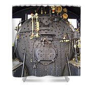 Steam Engine 444 Fire Box And The Controls Shower Curtain