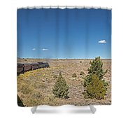 Steam Engine 489 At The Lava Tank On The Cumbres And Toltec Scenic Railroad Shower Curtain