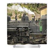 Steam Engine At Cumbres Pass Shower Curtain