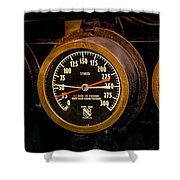 Steam Engine Gauge Shower Curtain