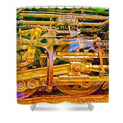 Steam Engine Linkage 3 Shower Curtain