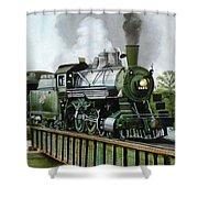 Steam Engine Locomotive Shower Curtain
