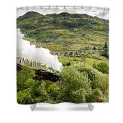 Steam Engine On Glenfinnan Viaduct Shower Curtain