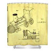 Steam Engine Patent 1869 Shower Curtain