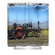 Steam Farming Shower Curtain