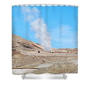 Steam From Earth Shower Curtain