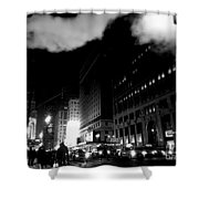 Steam Heat - New York At Night Shower Curtain