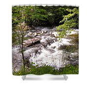 Steam In The Smoky Mountains Shower Curtain