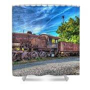 Steam Locomotive No 1151 Norfolk And Western Class M2c Shower Curtain