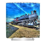 Steam Locomotive No 4 Virginian Class Sa  Shower Curtain