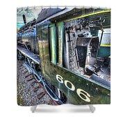 Steam Locomotive Norfolk And Western  No. 606 Shower Curtain