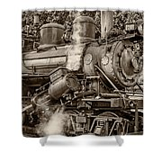 Steam Power Sepia Shower Curtain