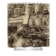 Steam Power Sepia Vignette Shower Curtain