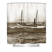 steam-schooner Elizabeth circa 1914 Shower Curtain