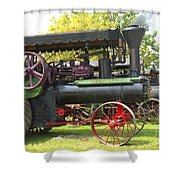 Steam Tractor Line-up Shower Curtain