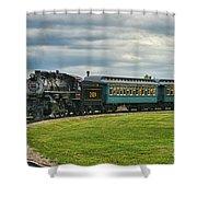 Steam Train Tr3627-13 Shower Curtain