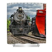 Steam Train Tr3637-13 Shower Curtain