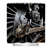 Steam Train Wheels Close Up Shower Curtain