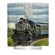 Steam Trains Tr3629-13 Shower Curtain