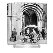 Steam Tricycle, 1888 Shower Curtain