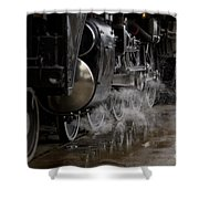 Steam Wheels Shower Curtain
