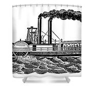 Steamboat, 19th Century Shower Curtain