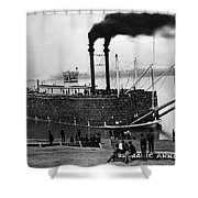 Steamboat, C1900 Shower Curtain