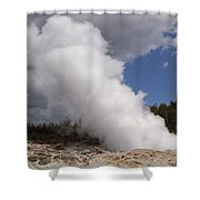 Steamboat Geyser Yellowstone Np Shower Curtain