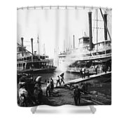 Steamboat Landing, 1906 Shower Curtain