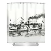 Steamboat Reliance Shower Curtain