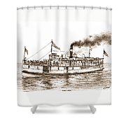 Steamboat Reliance Sepia Shower Curtain