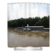 Steamboat River Elbe Germany Shower Curtain