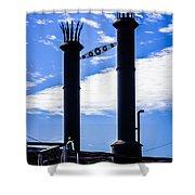 Steamboat Smokestacks On The Natchez Steam Boat Shower Curtain