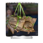 Steamed Food Parcels Shower Curtain