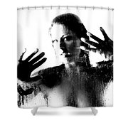 Steamed Glass Shower Curtain