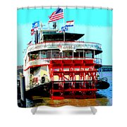 Steamer Natchez Paddleboat Shower Curtain