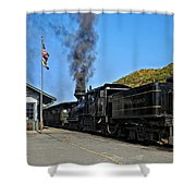Steaming Away Shower Curtain