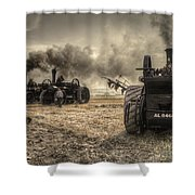 Steaming Giants  Shower Curtain