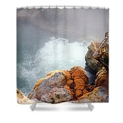 Steaming Hot Spring Shower Curtain