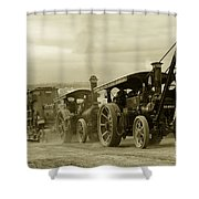 Steaming Power  Shower Curtain