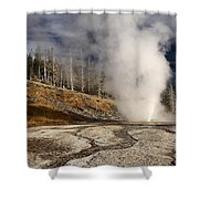 Steaming Streams Shower Curtain