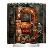 Steampunk - Alphabet - B Is For Belts Shower Curtain