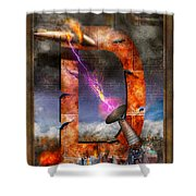 Steampunk - Alphabet - D Is For Death Ray Shower Curtain
