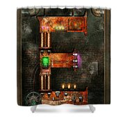 Steampunk - Alphabet - E Is For Electricity Shower Curtain