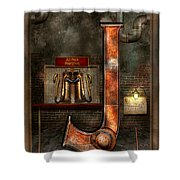 Steampunk - Alphabet - J Is For Jet Pack Shower Curtain