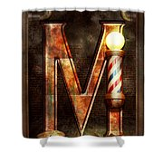Steampunk - Alphabet - M Is For Mustache Shower Curtain