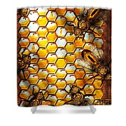 Steampunk - Apiary - The Hive Shower Curtain