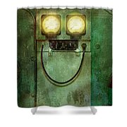 Steampunk - Be Happy Shower Curtain