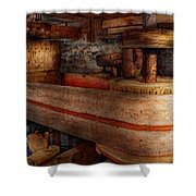 Steampunk - Belts - Old School Is Best Shower Curtain