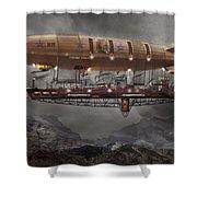 Steampunk - Blimp - Airship Maximus  Shower Curtain